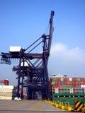Terminal del cargo, Hong-Kong Imagen de archivo