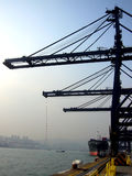 Terminal del cargo, Hong-Kong Foto de archivo