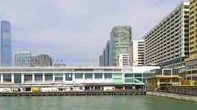 Terminal del océano y ciudad del puerto, Hong-Kong Fotografía de archivo libre de regalías