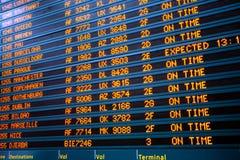 Terminal del vuelo Imágenes de archivo libres de regalías