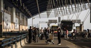 Terminal deux, aéroport de Pudong, Changhaï Image stock