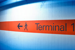 Terminal direction Royalty Free Stock Photography