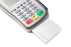 Terminal do cartão de crédito Fotografia de Stock