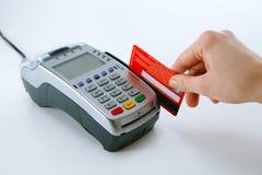 Terminal do cartão de crédito fotos de stock