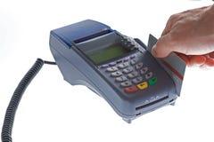 Terminal do cartão de crédito Imagens de Stock Royalty Free