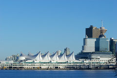 Terminal do navio de cruzeiros do lugar de Canadá, Vancôver, BC imagens de stock