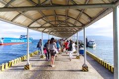 Terminal do porto de Sibulan na cidade de Dumaguete Fotografia de Stock