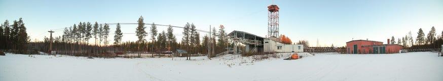 Terminal do ropeway de Norsjo na Suécia fotografia de stock royalty free