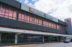Terminal domestique de transporteur de ligne aérienne de Qantas dans l'aéroport de Melbourne Photos stock