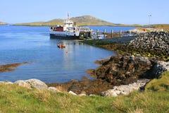 Terminal du ferry d'Ardmhor Images libres de droits