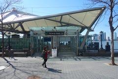 Terminal du ferry de place financière du monde Photos stock