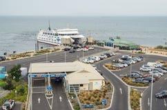 Terminal du ferry de Searoad dans Queenscliff, Australie Images libres de droits