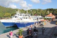 Terminal du ferry, St John, USVI Photographie stock