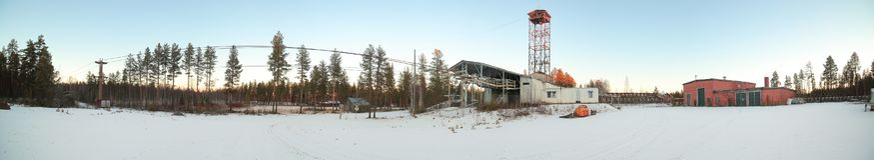 Terminal du ropeway de Norsjo en Suède photographie stock libre de droits