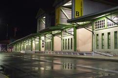 Terminal en la noche Imágenes de archivo libres de regalías