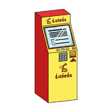 Terminal en ventes de billet Les terminaux choisissent l'icône en Web isométrique d'illustration d'actions de symbole de vecteur  illustration stock