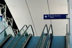 Terminal escalators Royalty Free Stock Photo