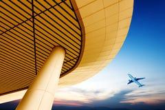 Terminal et avions Photo libre de droits