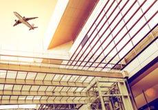 Terminal et avions Image libre de droits