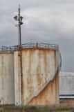 Terminal för gaslagring Arkivfoto