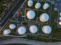 Terminal för gaslagring i havsporten Baltiskt hav, Daugavaflod Fotografering för Bildbyråer