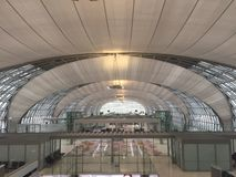 Terminal för internationell flygplats i Thailand royaltyfria bilder