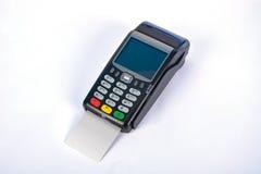 Terminal för pos.-betalning GPRS med kreditkorten Arkivbilder