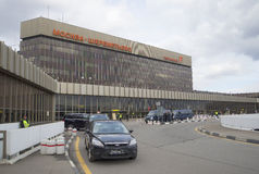 Terminal F of Sheremetyevo international airport cloudy day in April. Moscow Royalty Free Stock Photo