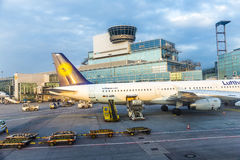 Terminal 1 Frankfurt International Airport Stock Photo