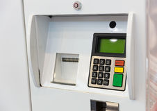 Terminal for gasoline payment Royalty Free Stock Photography