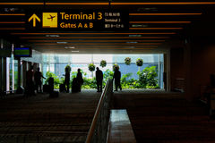 Terminal. The gate of airport terminal at changi singapore Royalty Free Stock Photography