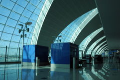 Terminal gate in modern Dubai. Royalty Free Stock Photo
