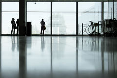 Terminal gridlines. Waiting in lobby hall before departure royalty free stock images