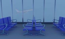 Airport. 3d rendering stock photos