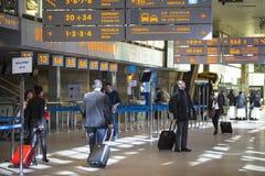 Terminal hall of John Paul II International Airport Krakow-Balice Royalty Free Stock Images