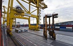 Terminal industrial ocupado do transporte em Ámérica do Sul imagens de stock