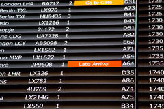 Terminal Info Board - 09 Royalty Free Stock Photography