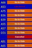 Terminal Info Board Stock Image