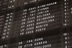 Terminal Info Board Royalty Free Stock Image