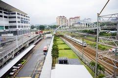 Terminal integrado Selatan del transporte de Bandar Tasik fotografía de archivo