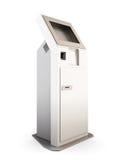 Terminal interativo no fundo branco 3d Fotografia de Stock Royalty Free