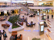 Terminal internacional de Maynard Jackson no aeroporto de Atlanta, EUA Imagens de Stock
