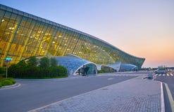Terminal international principal en Heydar Aliyev Airport Photos stock