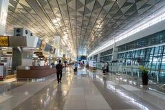 Terminal Jakarta Soekarno-Hatta för internationell flygplats 3 Arkivbild