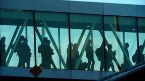 Terminal jetway do aeroporto video estoque