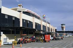The terminal of Jorge Wilstermann International Airport Stock Images