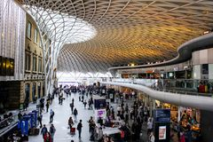 The terminal of King`s Cross St. Pancras stock photos