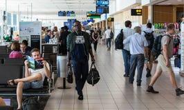 Terminal local de départ d'aéroport international de Cape Town Image libre de droits