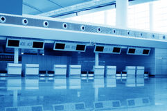 Terminal. Within a modern architectural style stock photos