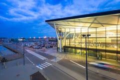 Terminal moderne de Lech Walesa Airport à Danzig Image libre de droits